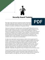 security guard company training