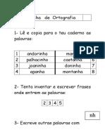 Fichas de Ortografia - Casos de Leitura