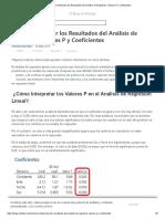 Cómo Interpretar los Resultados del Análisis de Regresión_ Valores P y Coeficientes