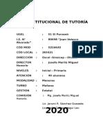 PLAN DE TUTORIA 2020