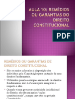 Aula 12 - Remédios e Garantias Constitucionais