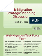 Web Migration Plan Senior Staff