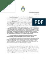 Argentina - Proposed Offer Press Release Final