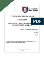 ENSAYO LA GLOBALIZACIÓN EN EL CONTEXTO ACTUAL