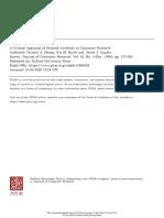 B_1991_JCR_A Critical Appraisal of Demand Artifacts in Consumer Research