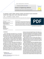 A computer code for finite element analysis and design of post-tensioned voided slab bridge decks with orthotropic behaviour