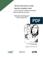 La participación social como método de conservación
