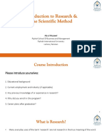 01 Introduction to Research _ The Scientific Method