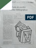 El arte de escribir reseñas bibliográficas (Lauro Zavala)