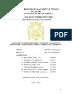 """2 - APLICACIÓN DE HERRAMIENTAS EN CONTROL DE CALIDAD EN LA PRODUCCIÓN DE VINO MALBEC PARA LA EMPRESA """"VIÑA QUEIROLO"""""""