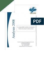 Analyse2008Laresponsabilitesocietaledesentreprises