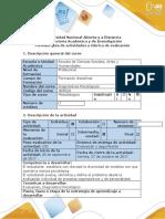 Guía de actividades y Rubrica de evalaución -Fase 3 - Hipótesis y diagnóstico