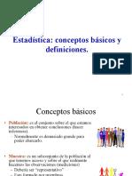 ESTADISTICA CONCEPTOS BASICOS Y DEFINICIONES