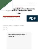 Alerta de Montagem Serious Trader (Estrutural)_ Compra de HYPE3 até R$ 29,95 - Nota 7