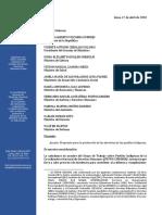 Carta al Poder Ejecutivo sobre el coronavirus y los pueblos indígenas