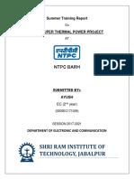 Summer Training Report NTPC BARH