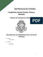 INFLUENCIA DE LOS ARMONICOS EN EL FACTOR DE POTENCIA