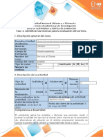 Guía de actividades y rúbrica de evaluación - Fase 4. Identificar las técnicas para la evaluación del Servicio.docx