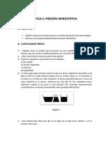 PRÁCTICA 2- PRESION HIDROSTATICA