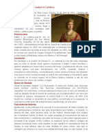 Biografía Corta de Isabel La Católica