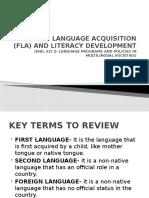 Theories of FLA and SLA (Eng. ELT 2)