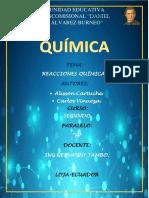 Informe Sobre Reacciones Químicas.