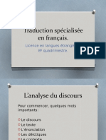 Analyse du discours
