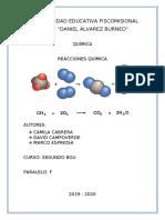 Informe sobre Reacciones Químicas - Segundo F