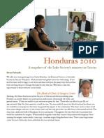 Honduras Newsletter Christmas 2010