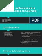 El sistema institucional de la función pública