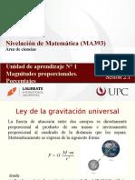 MA393 2016-1 Sesión 2.1 Magnitudes proporcionales. Porcentajes