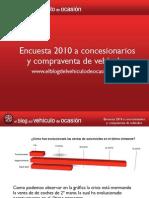 Encuesta 2010 a concesionarios y compraventa de vehículos