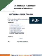 TRABAJO GRUPAL 03 - GRUPO 03 - ACTUALIZACIONES Y COMPARACIONES MÁS RELEVANTES DE LOS DG 2008 - 2013 - 2014 - 2018