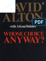 Whose Choice Anyway