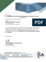 11. MANIFESTACIÓN AUTORIZANDO CONSIGNAR EN LA RESPECTIVA CUENTA BANCARIA.pdf