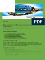 introductory newsletter:sharing the planet