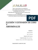flexion y extension de codo y abdominales genesis trabajo