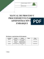 MANUAL DE PROCESO Y PROCEDIMIENTO PARA LA ADMINISTRACIÓN