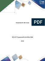 Presentacion del curso Programación de sitios web