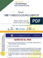 RSE y Negocios Inclusivos - RMorán