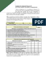 Formulario de evaluación Proyecto II v101007