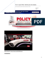 insightsonindia.com-RSTV POLICY WATCH- ELECTRIC VEHICLES IN INDIA