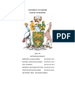 DBA Entrepreneurship word document