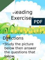Reading Exercises
