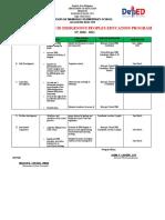 School IPED Program Action Plan 2020-2021