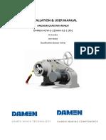 Anchor-capstan winch manual YN513301