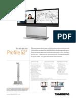 TANDBERG Profile 52'' Product Sheet
