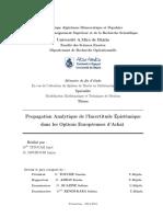 propagation analytique de l'incertitude épistémique dans les option européennes d'achet