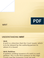 Writ-business law 1 & 2