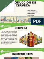 Producción de cerveza industrial
